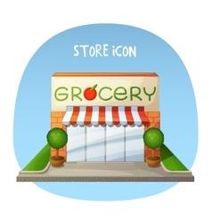 Store icon Grocery shop market building Cartoon vector image vector image