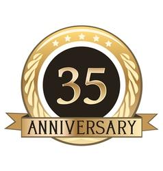 Thirty Five Year Anniversary Badge vector image