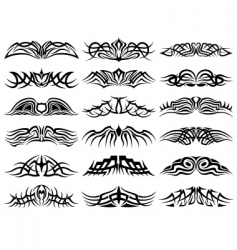 tribal tattoo set collection vector image
