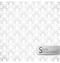 Abstract seamless pattern flower mesh white vector