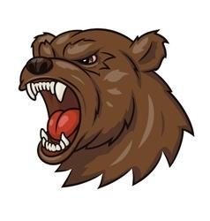 Angry bear head 3 vector image vector image