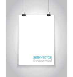 paper sign vector image vector image