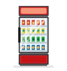 showcase refrigerator for cooling drinks vector image
