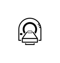 tomography icon flat design vector image