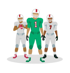 american football players in equipment with ball vector image vector image