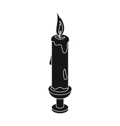 Candle icon in black style isolated on white vector image vector image