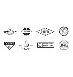 set of coffee label different logo badge emblem vector image vector image