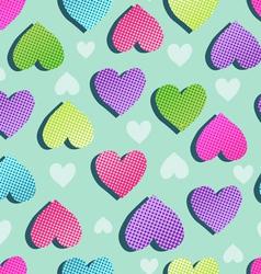 sweet hearts seamless vector image vector image