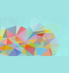 Abstract polygon background mint blue green vector
