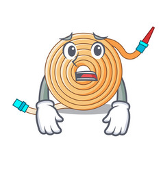Afraid water hose to extinguish the fire vector