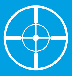 Aim icon white vector