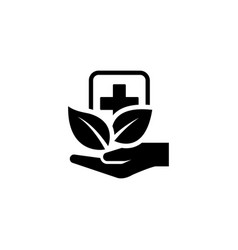 Alternative medicine icon flat design vector