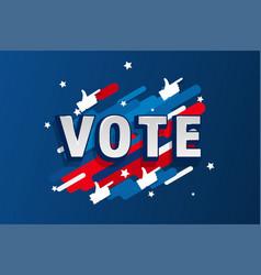 american patriotic background election day vector image