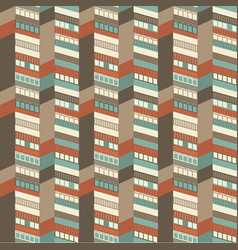 architectural seamless pattern vector image