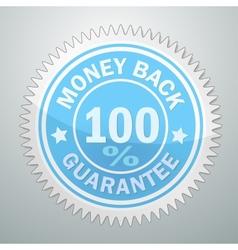 Badge money back guarantee vector
