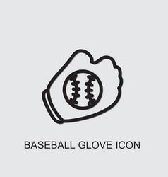Baseball glove icon vector