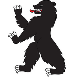 bear black rampant vector image