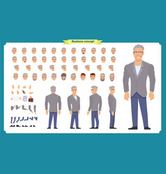 Business casual fashion front side back view vector