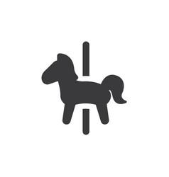 carousel horse icon vector image