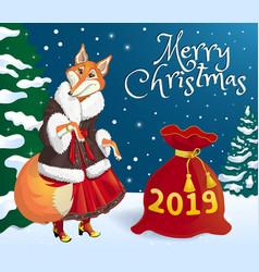 christmas banner 2019-02 vector image
