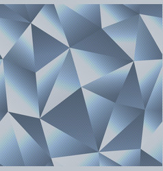 chrome triangle seamless pattern vector image