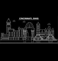 Cincinnati silhouette skyline usa - cincinnati vector