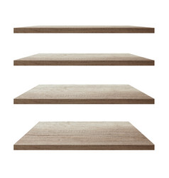 collection wood shelf table vector image