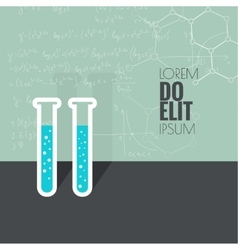 Concept of chemical science research vector