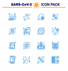 Covid19-19 icon set for infographic 16 blue pack vector