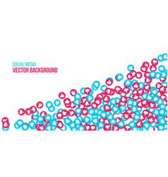 creative of social network vector image