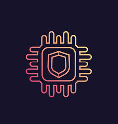Cryptography icon in linear style vector