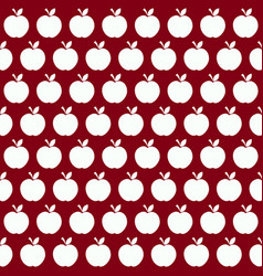 cute apple pattern vector image