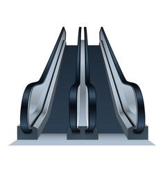 Double mall escalator icon realistic style vector