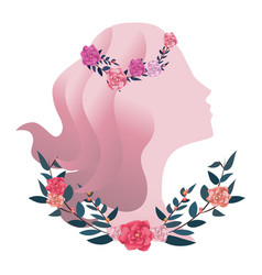 Female silhouette icon vector
