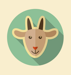 Goat flat icon animal head vector
