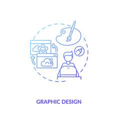 Graphic design blue gradient concept icon vector