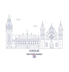 hague city skyline vector image