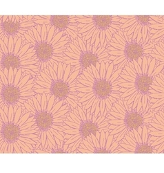 Hand drawn sketch gerbera floral pattern vector image