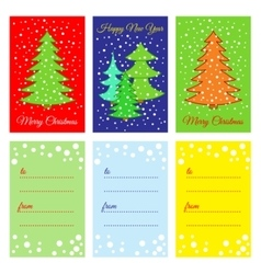 Happy New Year Printable cards vector