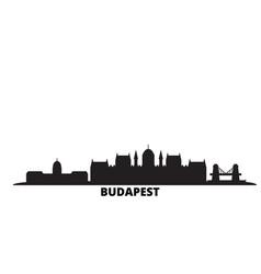 Hungary budapest city skyline isolated vector