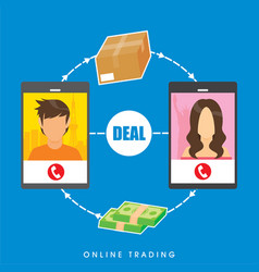 image about online trading vector image