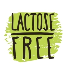 Lactose free hand drawn isolated label vector
