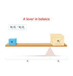 Lever and formula balance vector