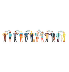 man and woman specialist and employee group of vector image