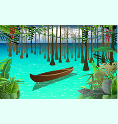 mangrove forest at sea vector image