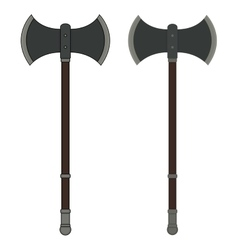 Medieval executioner double-sided ax vector