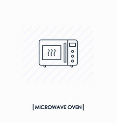 microwave oven outline icon isolated vector image