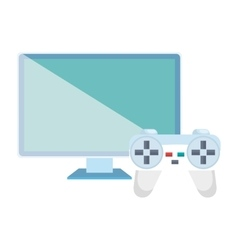 monitor computer and video game control vector image