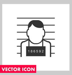 mug shot icon vector image