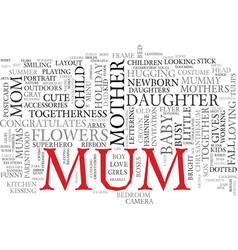 Mum word cloud concept vector